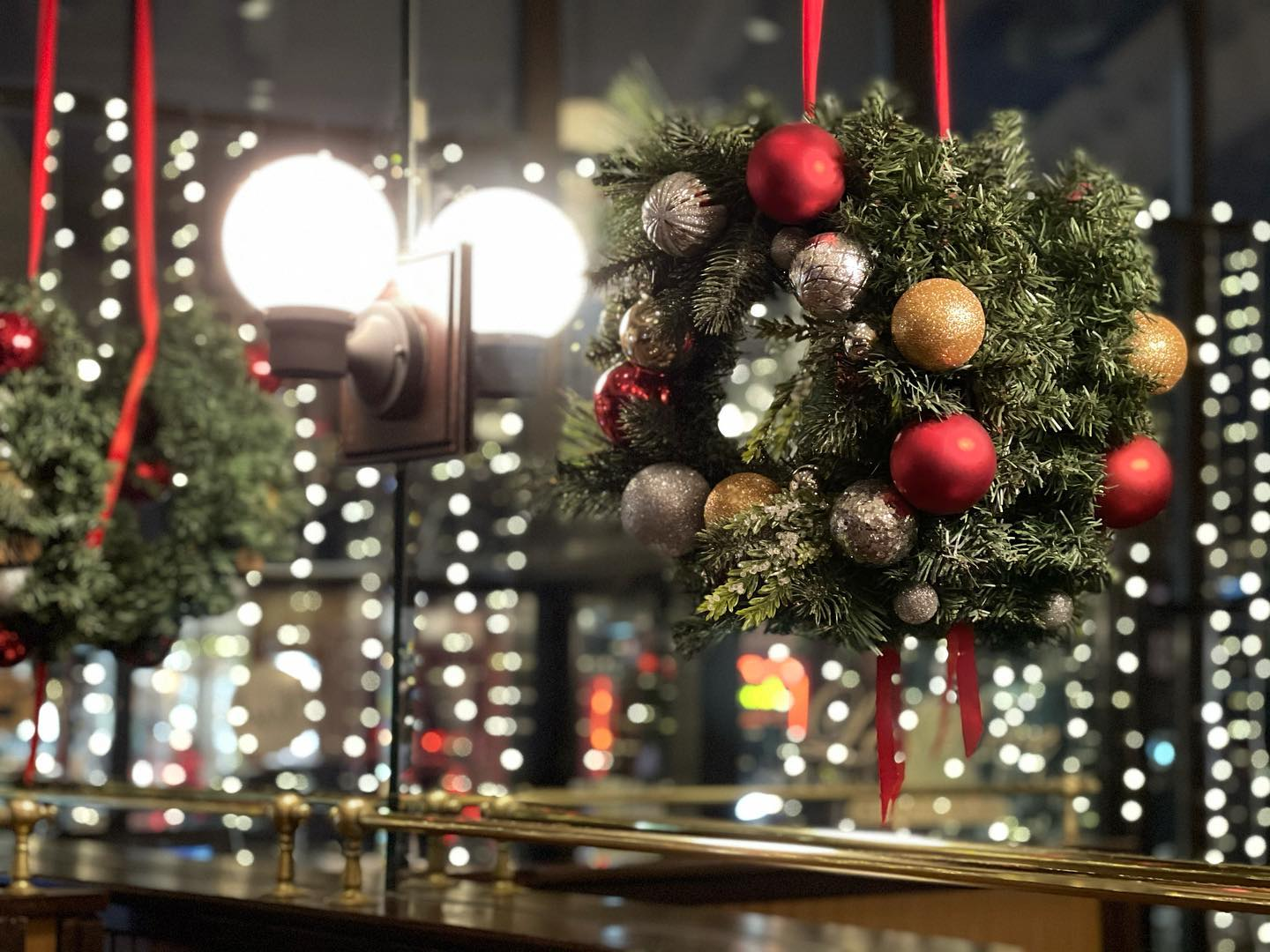 Wreath with ornaments